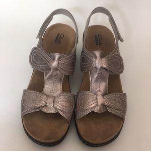 Clark's Metallic Shoes Size 12